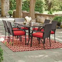 hometrends Tuscany 7-Piece Dining Set Scarlet Red