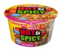 Nissin Bowl Noodles Hot & Spicy Shrimp