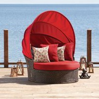 hometrends Tuscany 2-Piece Day Bed Set Red