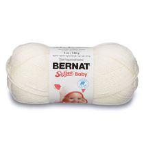 BERNAT SOFTEE BABY YARN (140G/5OZ), WHITE