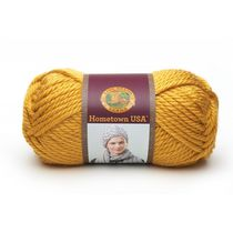 Lion Brand Yarn Hometown Usa Madison Mustard 135-159 Classic Bulky Yarn