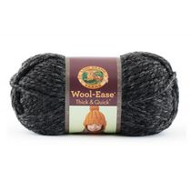 Lion Brand Yarn Wool Ease Thick & Quick Charcoal 640-149 Classic Bulky Yarn