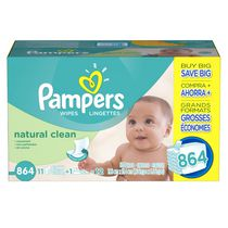 Pampers Baby Wipes Natural Clean 12X Pack