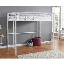 Manor Park Modern Metal Full Size Loft Bed - Multiple Finishes