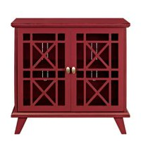 "32"" Red Gwen Fretwork Accent Console"