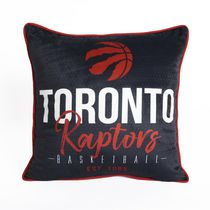 NBA Toronto Raptors Basketball Throw Pillow (18 x 18 in), Black