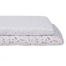 Baby's First by Nemcor, 2-Pack Jersey Mini Crib Sheets, Floral