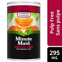 Minute Maid Orange Juice Pulp Free 295mL Frozen Can