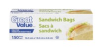 Great Value Sandwich Bags; 150 ct