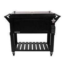 Permasteel Furniture Style Patio Cooler 80QT- Black