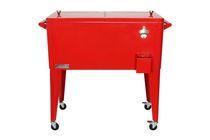 Permasteel Patio Cooler 80QT - Red