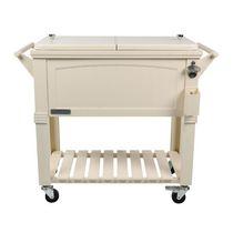 Permasteel Furniture Style Patio Cooler 80QT - Cream