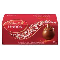 Lindt LINDOR Milk Chocolate Truffles, Count of 3, 36-Gram Box