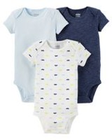 Child of mine made by Carter's Short Sleeve Newborn  3PK Boy  Bodysuits 0-3 months