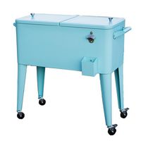 Permasteel Patio Cooler 80QT - Turquoise