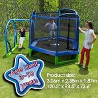Trainor Sports My First Jump and Swing Trampoline Set