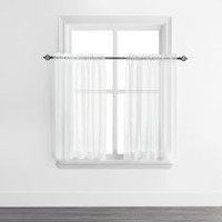 Mainstays Sheer Voile Rod Pocket Curtain Panels White