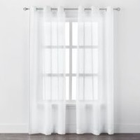 Mainstays Crushed Voile Grommet Curtain Panels White