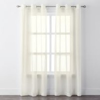 Mainstays Crushed Voile Grommet Curtain Panels Ivory