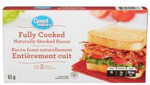 Great Value Fully Cooked Naturally Smoked Bacon