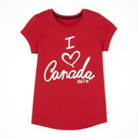 George Girls' Canada Graphic Tee S