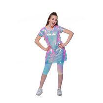 Girls Mini Pop Kids Pink Disco Dress