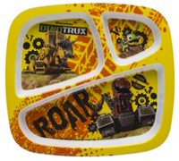 Zak Designs Dinotrux Divided Plate for Kids