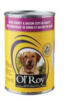 Ol'Roy Turkey & Bacon Cuts in Gravy Dog Food