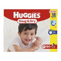 Huggies Snug & Dry Diapers, Economy Pack Size 4