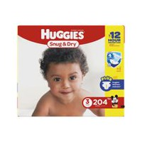Huggies Snug & Dry Diapers, Economy Pack Size 3