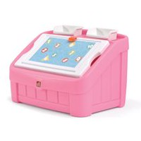 Step2 2-in-1 Pink Toy Box and Art Lid