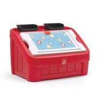 Step2 2-in-1 Red Toy Box and Art Lid