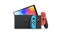 Jeu video Nintendo Switch (OLED model) w/ Neon Red & Neon Blue Joy-Con pour (Nintendo Switch)