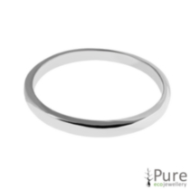 Wedding Band - Sterling Silver - 2mm 8