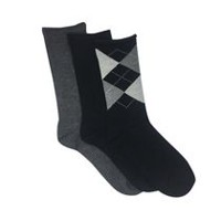 Secret Women's 3pk Bamboo Crew Socks Black