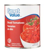 Tomates en dés de Great Value