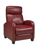 Brassex Push Back Recliner Red