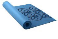 Lotus Printed Yoga Mat Blue