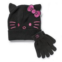 Sanrio Hello Kitty Girls' Cold Weather Hat and Glove Set