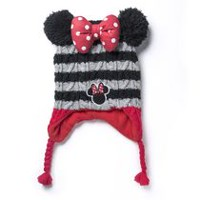 Disney Minnie Mouse Girls' Hat and Glove Cold Weather Set