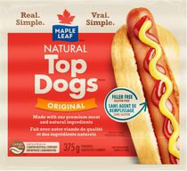 Maple Leaf Natural Top Dogs Original Hot Dogs