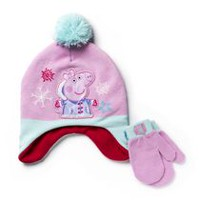 Peppa Pig Girls' Hat and Gloves