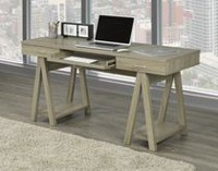 Office Desk with Pull Out Keyboard Tray, Dark Taupe