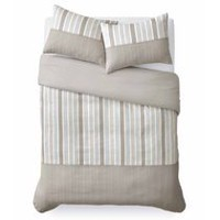 Mainstays Stripe Tan Duvet Cover Set Double/Queen