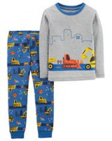 Child of Mine made by Carter's Infant Boys' Cotton  2-piece Pyjama -Construction 6-9 months