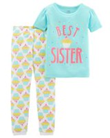 Child of Mine made by Carter's Infant Girl' Cotton 2-piece Pyjama -Sister 6-9 months