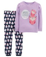Child of Mine made by Carter's Infant Girl' Cotton 2-piece Pyjama -Owl 12 months