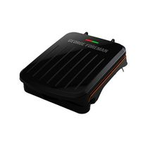 George Foreman 2-Serving Classic Plate Electric Indoor Grill and Panini Press, Black