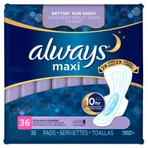 Always Maxi Extra Heavy Overnight Pads with Flexi-Wings