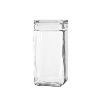 Anchor Hocking 1.5 qt Stackable Square Glass Jar